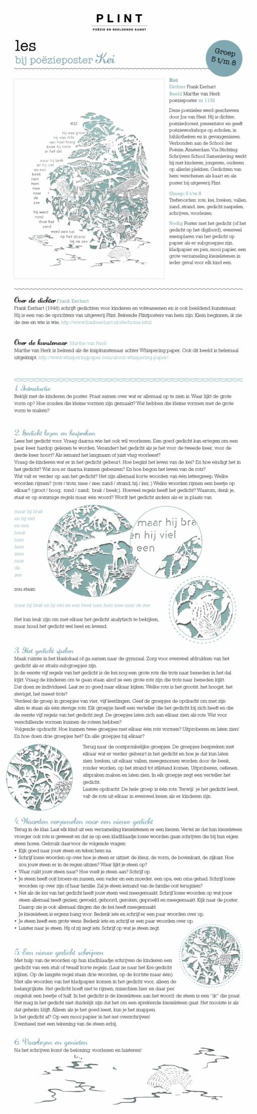 Poster van een les van PLINT.