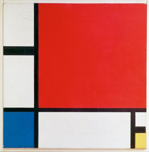 Piet Mondriaan - Composition in red, blue and yellow -1930