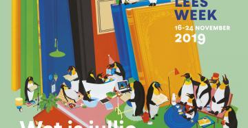 affiche voorleesweek pinguins lezen voor uit boeken