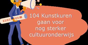 Getekende architect met tekstballon 104 Kunstkuren gaan voor nog sterker cultuuronderwijs