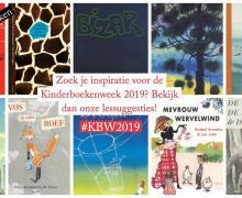 10 kaften van boeken van de kinderboekenweek