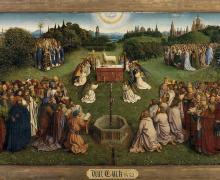 Afbeelding Lam Gods van Van Eyck