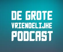 Logo voor de grote vriendelijke podcast