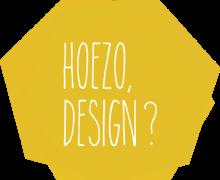Gele zeshoek met 'Hoezo, Design?' op geschreven.