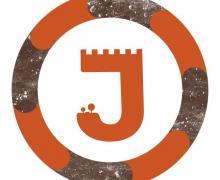 Logo van 'Jong redt oud' met een oranje J in de vorm van een toren