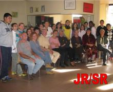 Groepsfoto leerlingen en senioren