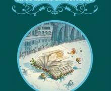 Boekcover van 'Wiet Waterlanders en de kleine Caroluscode' van auteur Mark Tijsmans. Op de cover staat een boek waar een meisje door bladert.
